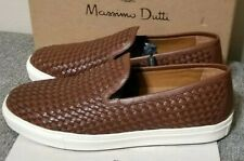 Massimo Dutti Brown Leather Casual Dress Shoes Men's Size Euro 44 US Size 11 New