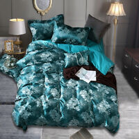 4pcs Set Bedding Christmas Print Duvet Quilt Cover Bedding Pillowcase