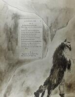 1922 Completo Talla William Blake Estampado Thomas Grays Poema Progreso