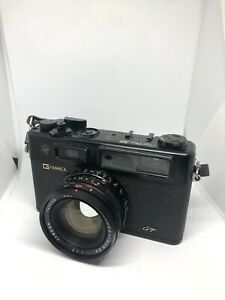 Yashica Electro Black 35 GT 35mm Rangefinder Film Camera With Case