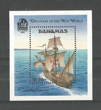 BAHAMAS 1991 DISCOVERY OF AMERICA 4TH SERIES MINISHEET SG,MS912 U/M NH LOT 1339A