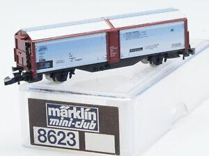 8623 Z-Scale Marklin mini-club DB Silver Red-brown Sliding Wall Wagon