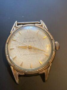 Starburst Dial Vintage 1956 Men's Bulova 23J Self Winding Automatic G/P Watch