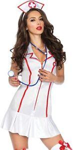 Leg Avenue Women's 3 Piece Head Nurse Costume Size XL NWT