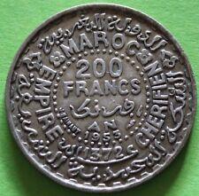 MOROCCO 200 FRANCS 1953