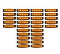 30x 12V Orange 6 LED Leuchte E9 Begrenzungsleuchte LKW Positionsleuchte