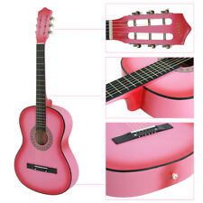38 Inches Dreadnought Acoustic Guitar Pink Beginner Starter Student Guitar