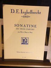 D.E. Inghelbrecht Sonatine pour flûte et harpe ou piano éditions Leduc