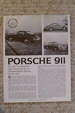 1965 Porsche 911 R&T Road Test Folder, Brochure REPRINT RARE!! Awesome L@@K