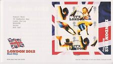 LONDON PMK GB ROYAL MAIL FDC FIRST DAY COVER 2005 2012 HOST CITY M/S SHEET