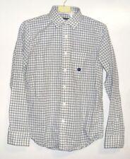 Para hombre Abercrombie & Fitch Rústico textura Comprobar Camisa blanca pequeña CS078 BB 10