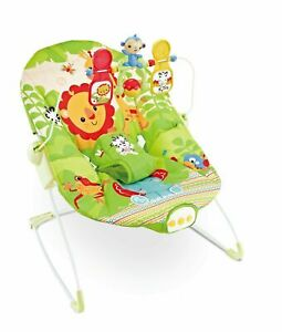 Baby Rocker Animal Kingdom Bouncer Chair With Soothing Music & Vibrations