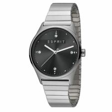 ESPRIT Ladies Womans Watch Analogue VinRose Black Silver Polish Quartz RRP £109