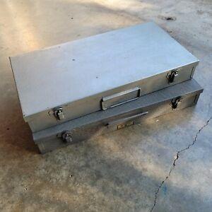 35mm Metal Slide Tray Storage Case File Box – 150 Slots - Vintage Lot 2 Boxes