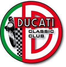 "RETRO DUCATI CLASSIC CLUB VINYL STICKER 100MM  4"" ,QUALITY,DECAL FAST SHIPPING"