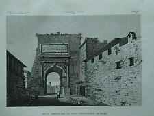1845 Zuccagni-Orlandini Veduta dell'Arco Trionfale di Tito Vespasiano in Roma