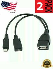 2PS Micro USB Host OTG Cable with USB Power for Samsung / HTC / Nexus /Lg Phones