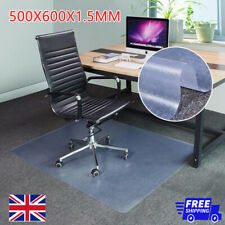 More details for plastic clear non slip office chair desk mat floor computer carpet protector pvc