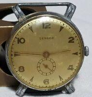 vintage watch Censor cassa anse fisse carica manuale uomo bilanciere ok