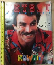 The JETSET MAGAZINE 1992 No 1 Tom Selleck Rare Limited Copy Large Size