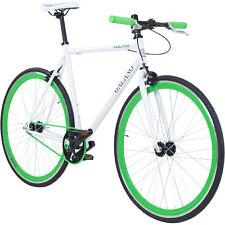 28 PULGADAS galano Blade Singlespeed Fixie Retro Bicicleta Bike Blanco/VERDE 59