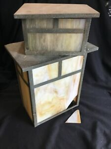 Vintage Outdoor Arroyo Craftsman Arts & Crafts Light Fixture Sconces For Parts