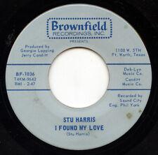 Hear- Rare Soul / Novelty 45- Stu Harris - I Found My Love- Brownfield # Bf-1036