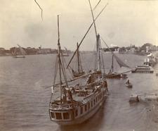 Egypt, Boat of the Nile  Vintage silver print. Tirage argentique d'époque