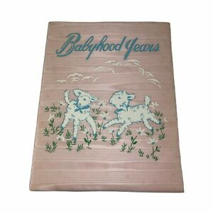 Babyhood Years Baby Birth to 5 Years Record Book Vintage 1950s Pink Moire Cover