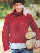 "8LCF - Knitting Pattern - Super Chunky Fisherman Knit Jumper - 32-40"" Chest"