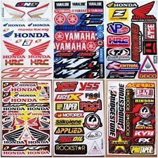 Motocross racing Nascar Auto Mobil Car Bike Turck Helmet Decal Stickers 6 sheets