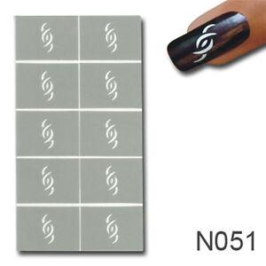 Smart Nails Nagellack Schablone Nailart Nagellack Gel Acryl Naildesign #51
