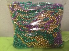 12 Mardi Gras Beads Necklaces Party Favors 1 Dozen Lot New Weddings Birthday