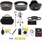 NIKON D3400 D3500 D5600 DSLR CAMERA BAG TRIPOD LENSES FILTERS 16GB PRO HD 8K KIT