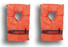 2 Pack Type II Orange Life Jacket Vest Adult Universal Boating PFD USCG Approved