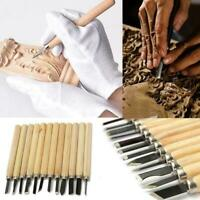 12Pcs Wood Carving Hand Chisel Tool Kit Set Wood working Professional T0E2