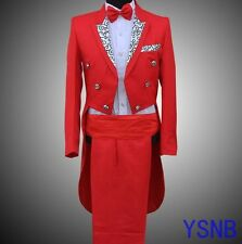 Men's Stylish Tuxedo Formal Wedding Bridegroom Suits Swallow Tail Coats Trousers