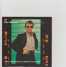 Sex Pistols (Glen)- Who's he think he is... UK promo cd album