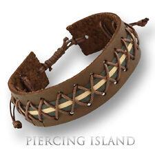 Bracciale in Pelle Marrone Brown Leather Pelle Bracciale b130