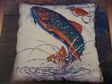 Brook Trout Fish Pillow OOP Magazine Cross Stitch PATTERN (K)