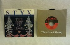Vintage 45's, Styx: The Best of Times; Foreigner: Double Vision, Original 80's!