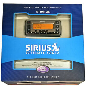 Sirius Satellite Radio System Plug& Play Receiver Home or Car Stratus New Sealed