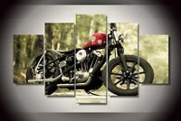 Modern Abstract Oil Painting Wall Decor Art Huge - Motorcycle Still Life