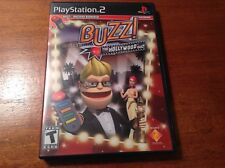 PLAYSTATION 2 BUZZ! THE HOLLYWOOD QUIZ GAME WITH MANUAL