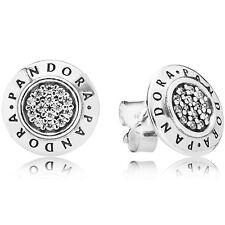 PANDORA Ohrstecker Ohrringe Earrings 290559 CZ Logo Silber Bead