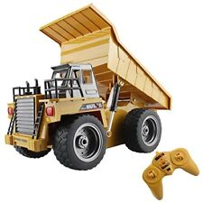 Fisca Rc Truck 6 Ch 2.4g Alloy Remote Control Dump Truck 4 Wheel Driver Mine Toy