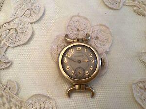 Vtg Antique Mens Womens Hamilton 10k Gold Filled Deco Watch
