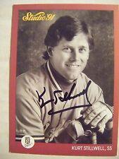 KURT STILLWELL signed ROYALS 1991 Donruss Studio baseball card AUTO Autographed