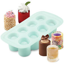 NEW Wilton Shot Glass Drink And Dessert Silicone Mold - Ice Glasses Treat Cups