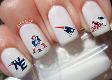 New England Patriots Nail Art Stickers Transfers Decals Set of 48